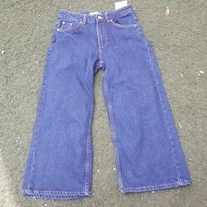 Trf Collection Cropped Wide Legged Denim